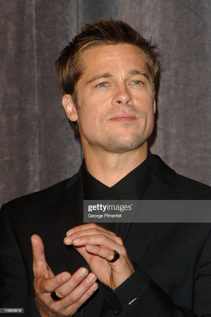 Brad Pitt at the Roy Thompson Hall in Toronto Canada