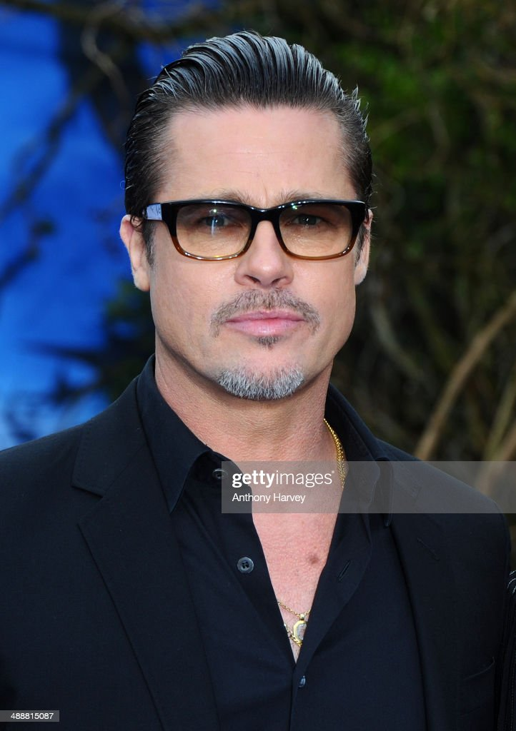 <a gi-track='captionPersonalityLinkClicked' href=/galleries/search?phrase=Brad+Pitt+-+Actor&family=editorial&specificpeople=201682 ng-click='$event.stopPropagation()'>Brad Pitt</a> attends a private reception as costumes and props from Disney's 'Maleficent' are exhibited in support of Great Ormond Street Hospital at Kensington Palace on May 8, 2014 in London, England.