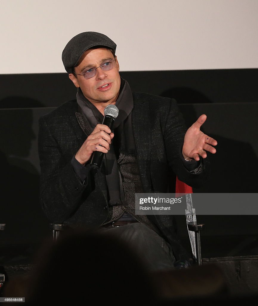 Brad Pitt attends an official Academy Screening of BY THE SEA hosted by The Academy Of Motion Picture Arts And Sciences on November 3, 2015 in New York City.