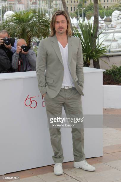 Brad Pitt attends 'Killing Them Softly' Photocall at Palais des Festivals on May 22 2012 in Cannes France