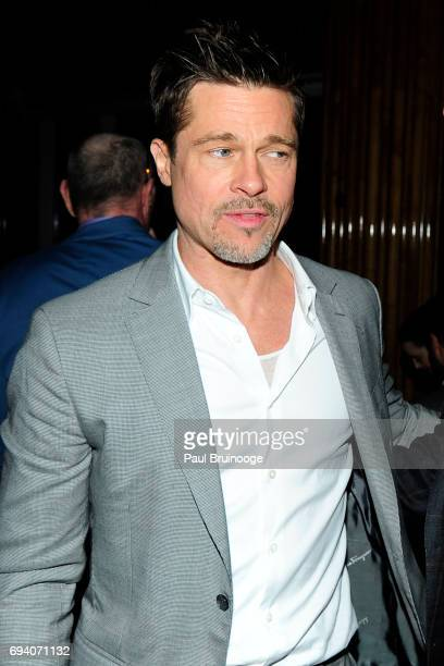 Brad Pitt attends Netflix hosts the after party for 'Okja' at AMC Lincoln Square Theater on June 8 2017 in New York City