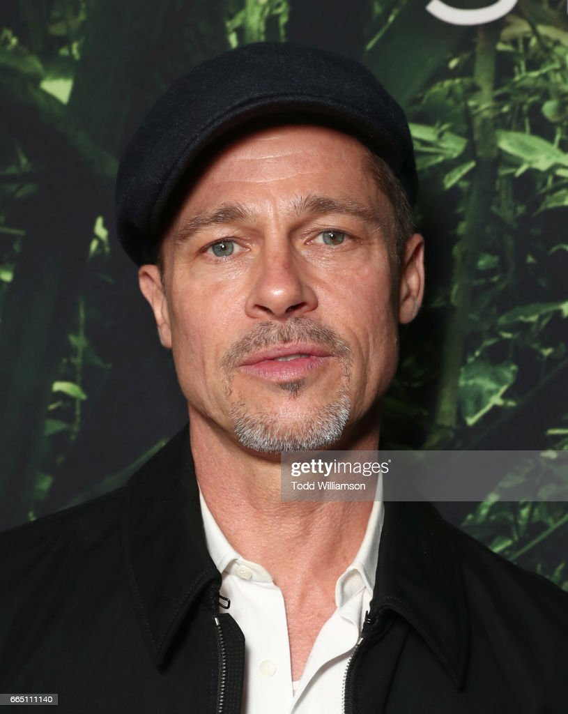 Brad Pitt attends the Amazon Studios and Bleeker Street's Los Angeles Premiere Of James Gray's THE LOST CITY OF Z on April 5, 2017 in Hollywood, California.
