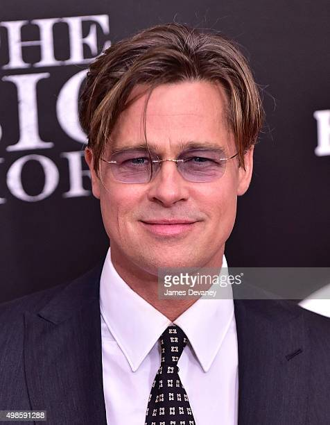 Brad Pitt attends 'The Big Short' New York Premiere at Ziegfeld Theater on November 23 2015 in New York City