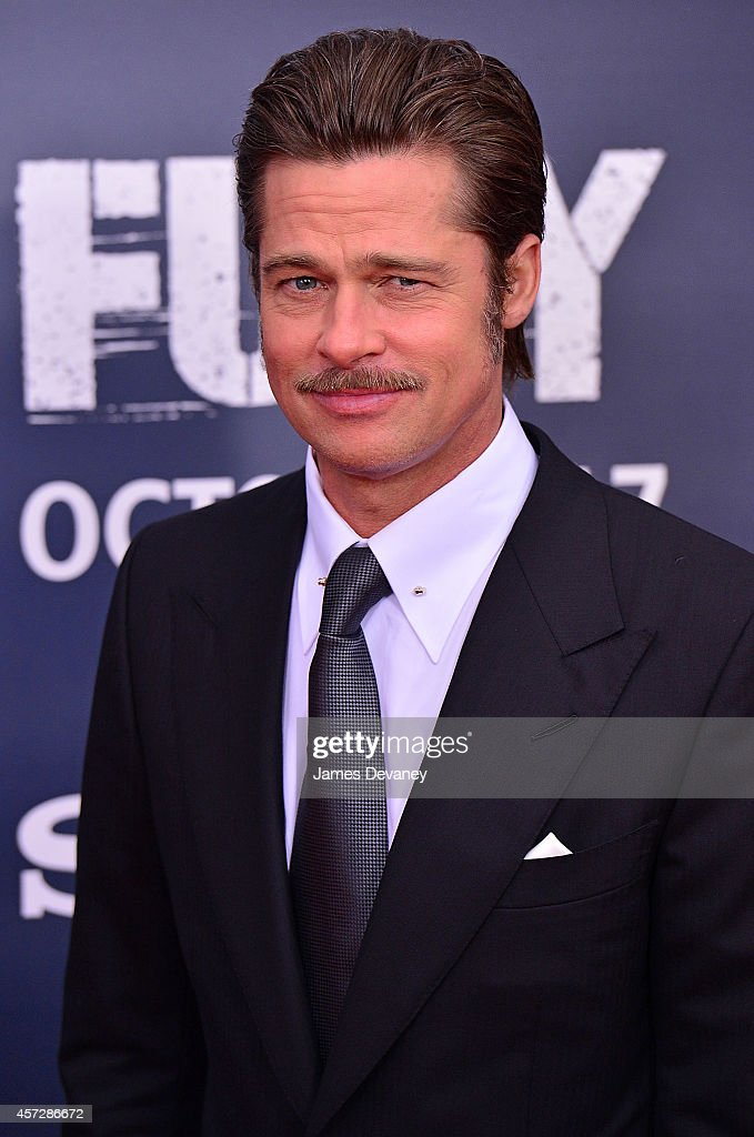 Brad Pitt attends the 'Fury' Washington DC Premiere at The Newseum on October 15, 2014 in Washington, DC.