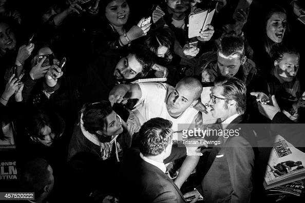 Brad Pitt attends the gala premiere of Fury as part of The 58th London Film Festival on October 19 2014 in London England