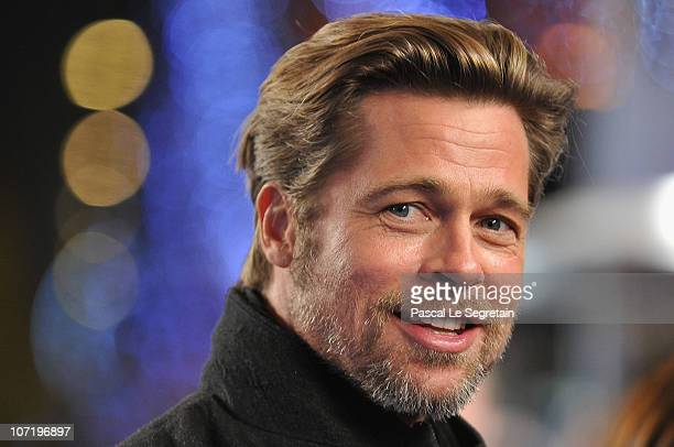 Brad Pitt attends the 'Megamind' Paris premiere at Cinema UGC Normandie on November 29 2010 in Paris France