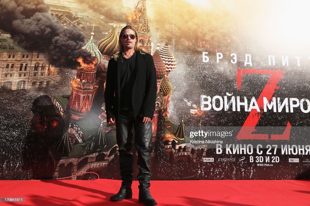 <a gi-track='captionPersonalityLinkClicked' href=/galleries/search?phrase=Brad+Pitt+-+Actor&family=editorial&specificpeople=201682 ng-click='$event.stopPropagation()'>Brad Pitt</a> attends the Moscow International Film Festival on opening night at Pushkinsky Cinema on June 20, 2013 in Moscow, Russia.