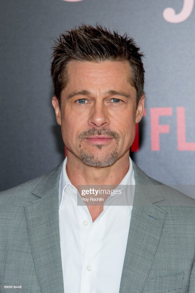 Brad Pitt attends the New York premiere of 'Okja' at AMC Lincoln Square Theater on June 8, 2017 in New York City.