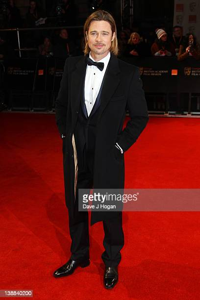 Brad Pitt attends The Orange British Academy Film Awards 2012 at The Royal Opera House on February 12 2012 in London England
