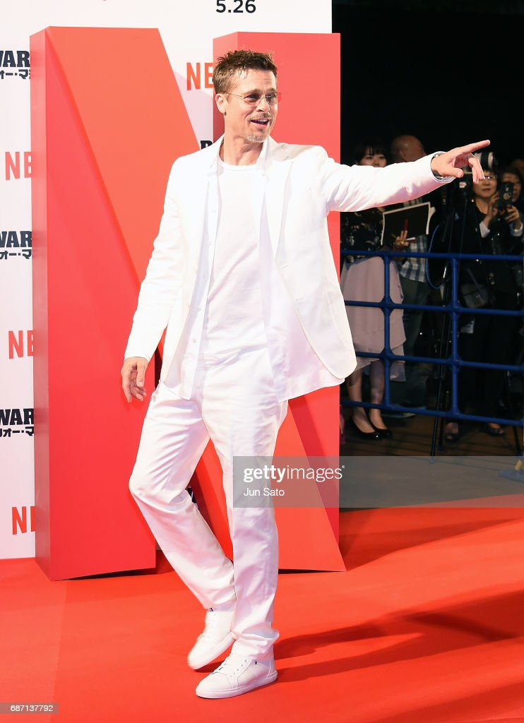 Brad Pitt attends the premiere for 'War Machine' at Roppongi Hills on May 23, 2017 in Tokyo, Japan.