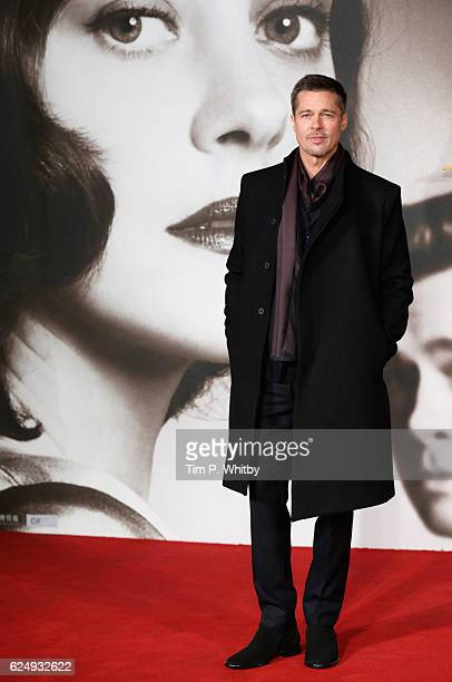 Brad Pitt attends the UK Premiere of 'Allied' at Odeon Leicester Square on November 21 2016 in London England