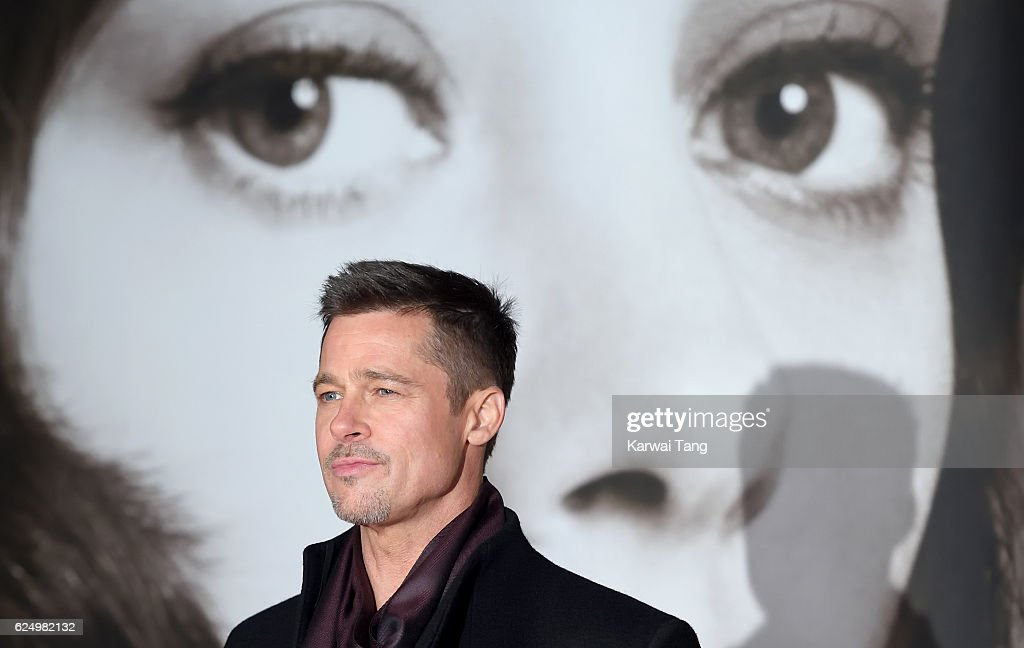 Brad Pitt attends the UK Premiere of 'Allied' at Odeon Leicester Square on November 21, 2016 in London, England.