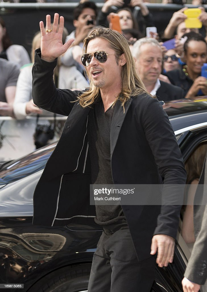 <a gi-track='captionPersonalityLinkClicked' href=/galleries/search?phrase=Brad+Pitt+-+Actor&family=editorial&specificpeople=201682 ng-click='$event.stopPropagation()'>Brad Pitt</a> attends the World Premiere of 'World War Z' at The Empire Cinema on June 2, 2013 in London, England.