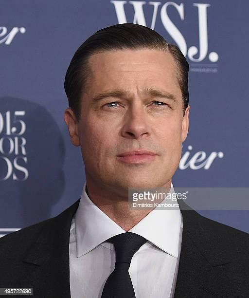 Brad Pitt attends the WSJ Magazine 2015 Innovator Awards at the Museum of Modern Art on November 4 2015 in New York City