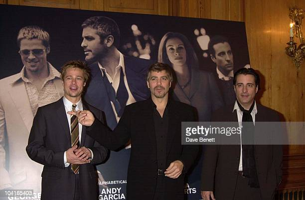 Brad Pitt George Clooney And Andy Garcia The Brat Pack Turned Up In London To Launch Their New Movie 'Oceans Ii' At The Dorchester Hotel London