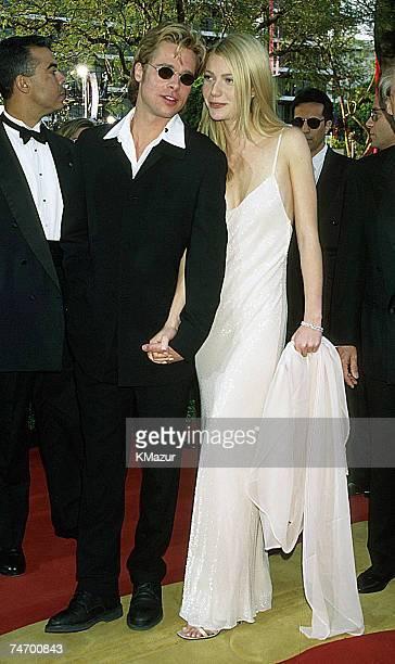Brad Pitt Gwyneth Paltrow at the Dorothy Chandler Pavilion in Los Angeles California