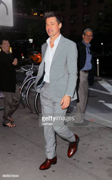 Brad Pitt is seen on June 8 2017 in New York City