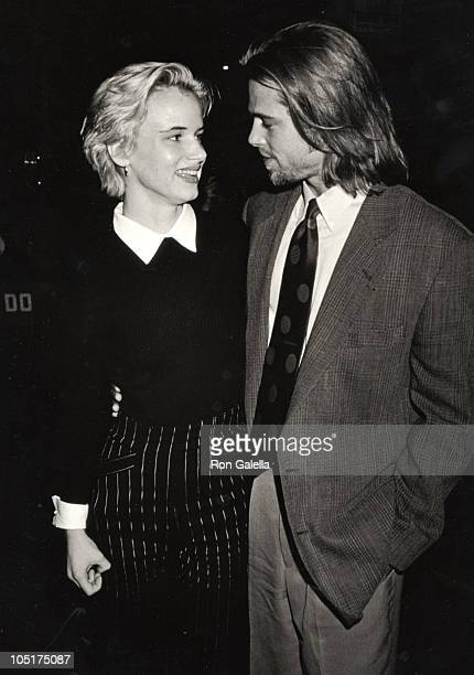 Brad Pitt Juliette Lewis during 'A River Runs Through It' Premiere October 8 1992 at Ziegfeld Theater in New York City NY United States