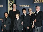 Brad Pitt Pax Thien JoliePitt Shiloh Nouvel JoliePitt Maddox JoliePitt Jane Pitt and William Pitt attend the 'Unbroken' Los Angeles premiere held at...