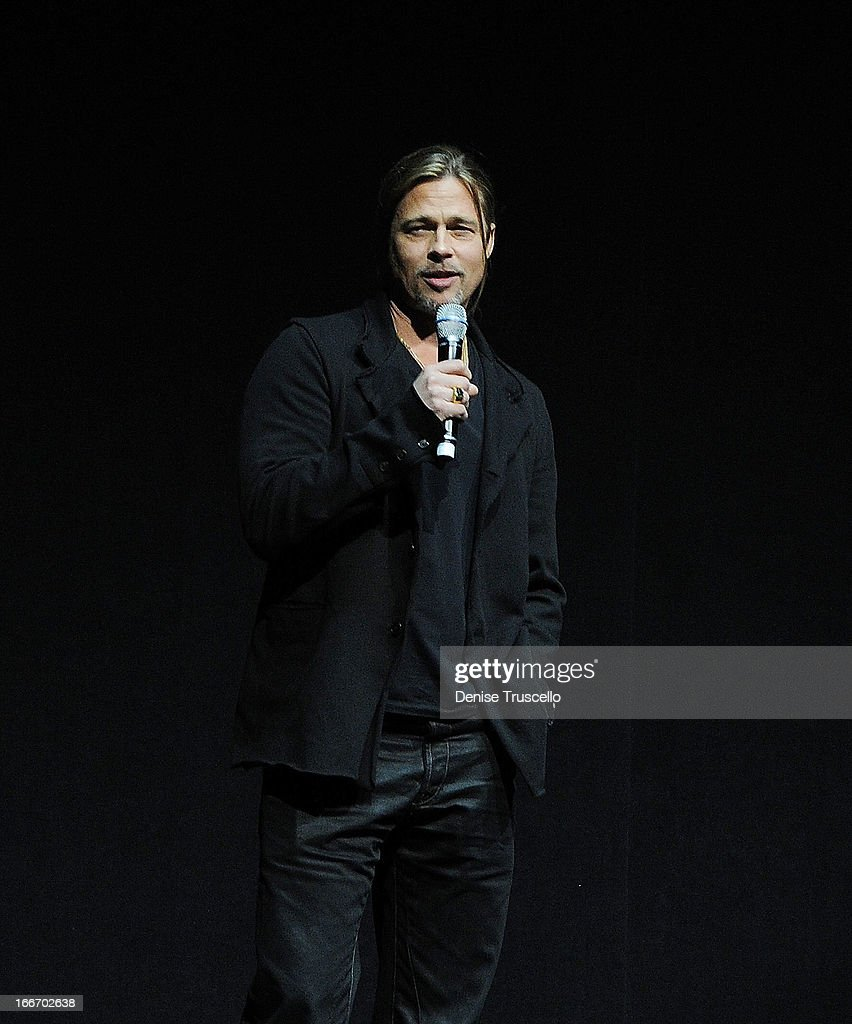 <a gi-track='captionPersonalityLinkClicked' href=/galleries/search?phrase=Brad+Pitt+-+Attore&family=editorial&specificpeople=201682 ng-click='$event.stopPropagation()'>Brad Pitt</a> speaks at CinemaCon 2013 Paramount opening night party and presentation at Caesars Palace on April 15, 2013 in Las Vegas, Nevada.