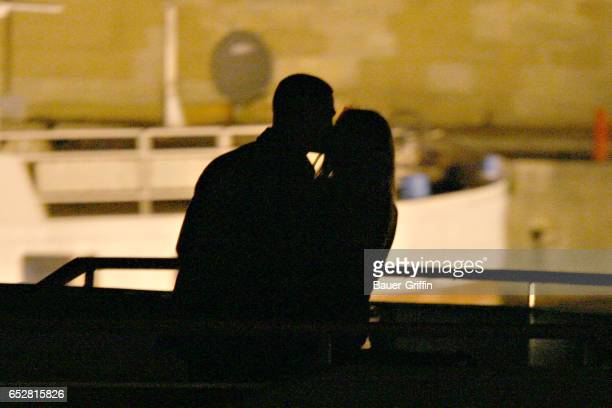 Brad Pitt wife Jennifer Aniston enjoy a romantic evening in Paris with dinner at the 'Stresa' restaurant and then a ride on the Seine river May 24th...