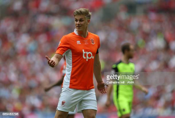 Brad Potts of Blackpool during the Sky Bet League Two Playoff Final match between Blackpool and Exeter City at Wembley Stadium on May 28 2017 in...