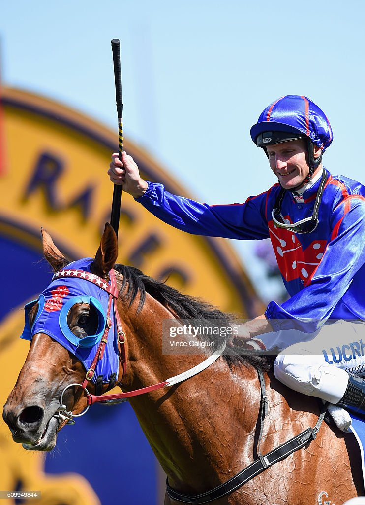 Brad Rawiller after riding Mahuta to win Race 6, the Autumn Stakes during Melbourne Racing at Caulfield Racecourse on February 13, 2016 in Melbourne, Australia.