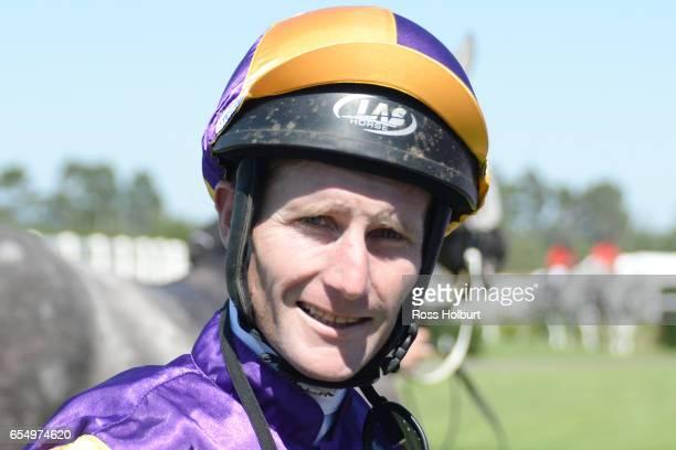 Brad Rawiller after winning Robert Rose Plate at Yarra Valley Racecourse on March 19 2017 in Yarra Glen Australia