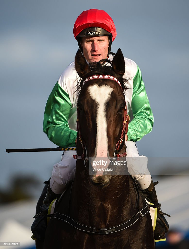 Brad Rawiller riding Better Land after finishing third in Race 10 during Brierly Day at Warrnambool Race Club on May 4, 2016 in Warrnambool, Australia.