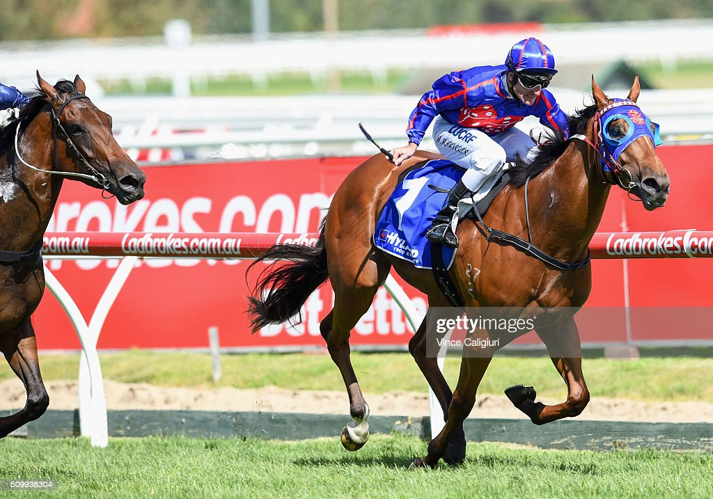 Brad Rawiller riding Mahuta wins Race 6, the Autumn Stakes during Melbourne Racing at Caulfield Racecourse on February 13, 2016 in Melbourne, Australia.