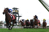 Brad Rawiller riding Raw Impulse wins Race 3 during Melbourne Racing at Caulfield Racecourse on April 23 2016 in Melbourne Australia