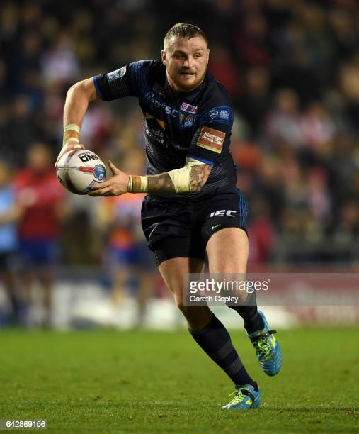 Brad Singleton of Leeds during the Betfred Super League match between Leigh Centurions and Leeds Rhinos at Leigh Sports Village on February 17 2017...