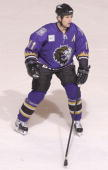 Brad Smyth of the Manchester Monarchs skates against the Bridgeport Sound Tigers at the Arena at Harbor Yard on November 4 2005 in Bridgeport...