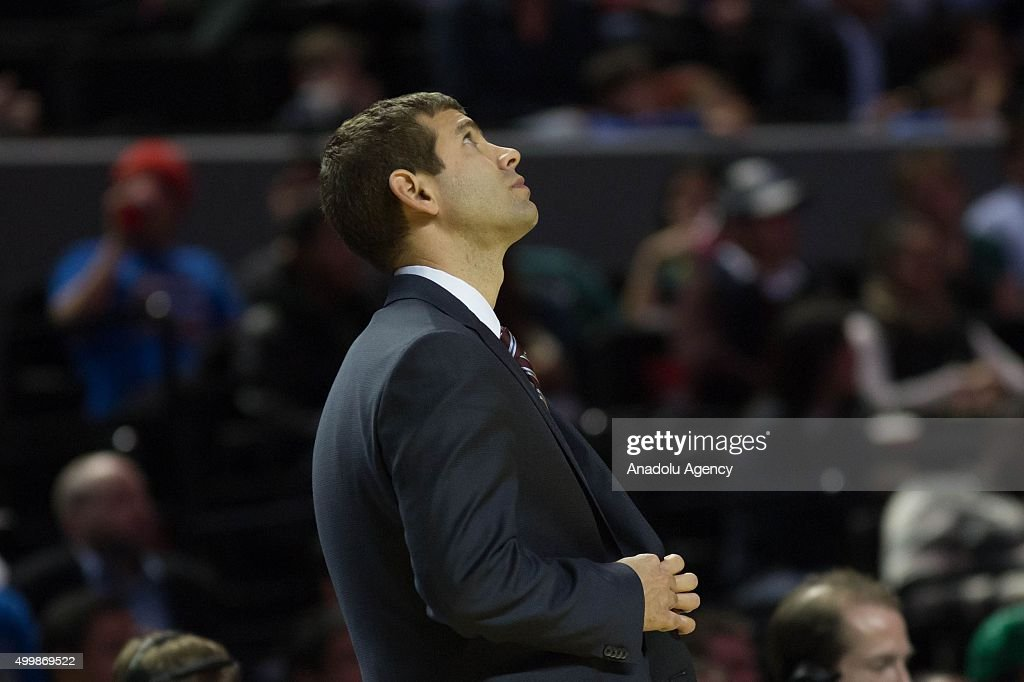 Brad Stevens, head coach of Boston Celtics during the NBA Regular Season basketball game between Sacramento Kings and Boston Celtics at the Mexico City Arena on December 03, 2015 in Mexico City, Mexico.