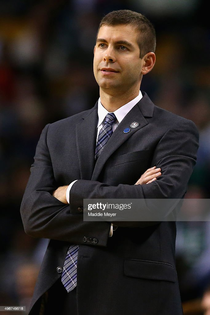 <a gi-track='captionPersonalityLinkClicked' href=/galleries/search?phrase=Brad+Stevens&family=editorial&specificpeople=5022542 ng-click='$event.stopPropagation()'>Brad Stevens</a> of the Boston Celtics looks on during the fourth quarter against the Indiana Pacers at TD Garden on November 11, 2015 in Boston, Massachusetts.