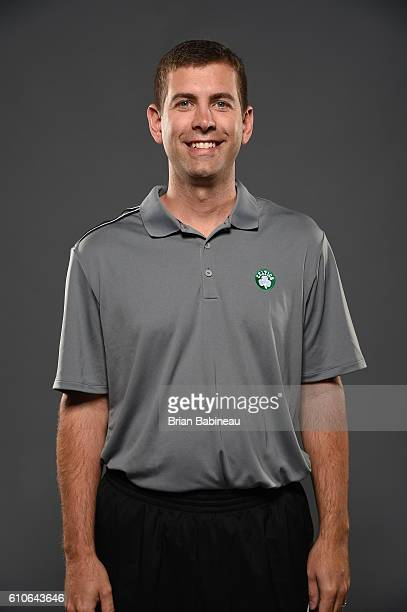 Brad Stevens of the Boston Celtics poses for a portrait during 20162017 Boston Celtics Media Day at TD Garden on September 26 2016 in Boston...