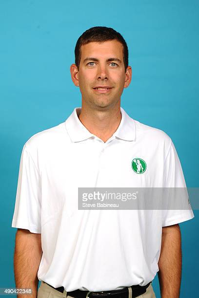 Brad Stevens of the Boston Celtics poses for media day on September 25 2015 at the Boston Celtics Training Center in Waltham Massachusetts NOTE TO...