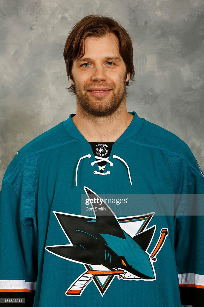 <a gi-track='captionPersonalityLinkClicked' href=/galleries/search?phrase=Brad+Stuart+-+Ice+Hockey+Player&family=editorial&specificpeople=213995 ng-click='$event.stopPropagation()'>Brad Stuart</a> of the San Jose Sharks poses for his official headshot for the 2013-14 season on September 11, 2013 at SAP Center in San Jose, California.