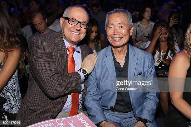 Brad Takei and George Takei attends tje KYBOE fashion show during New York Fashion Week The Shows at The Arc Skylight at Moynihan Station on...