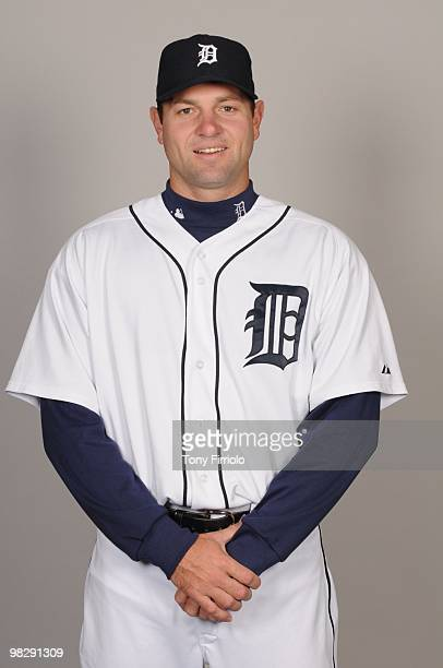 Brad Thomas of the Detroit Tigers poses during Photo Day on Saturday February 27 2010 at Joker Marchant Stadium in Lakeland Florida