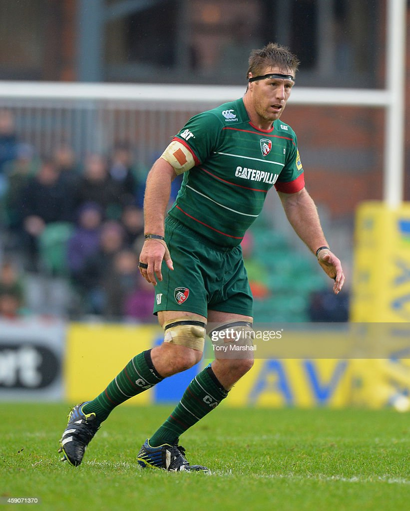 Brad Thorn of Leicester Tigers during the Aviva Premiership match between Leicester Tigers and Saracens at Welford Road on November 16 2014 in...