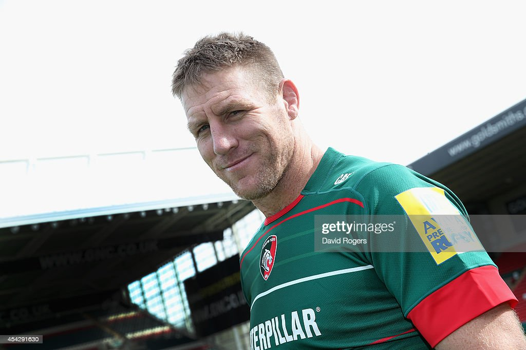 Brad Thorn of Leicester Tigers poses at the photocall held at Welford Road on August 28 2014 in Leicester England