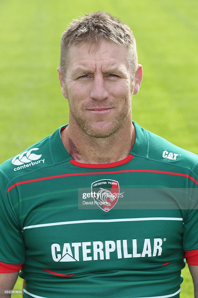 Brad Thorn of Leicester Tigers poses for a portrait at the photocall held at Welford Road on August 28 2014 in Leicester England