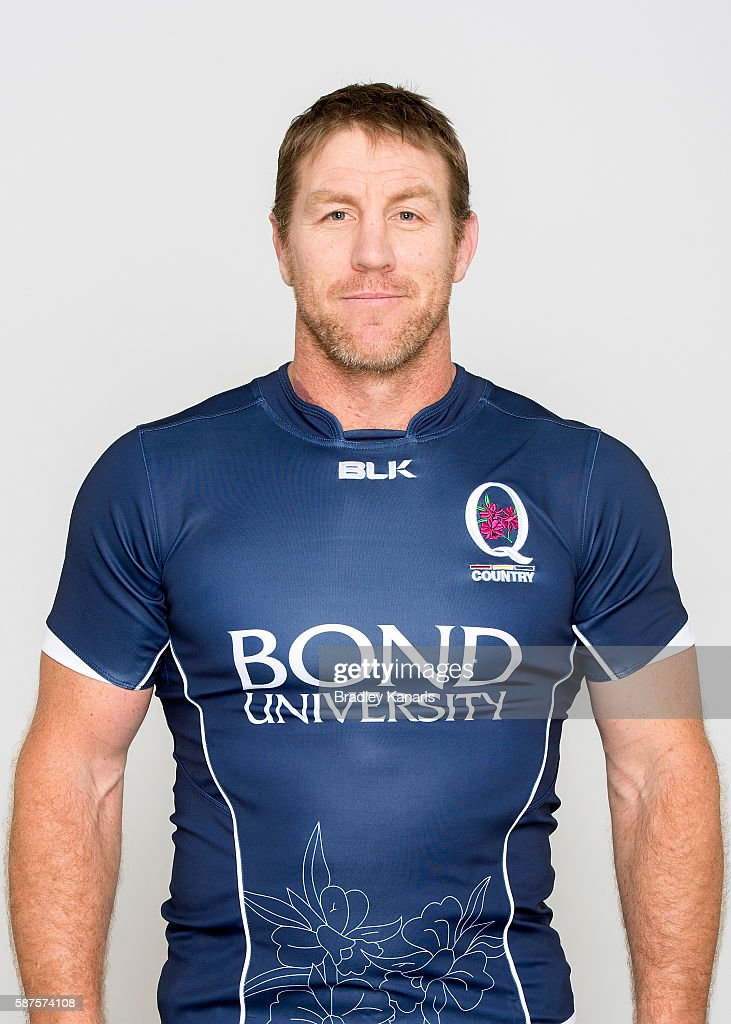 Brad Thorn poses for a photo during a NRC Queensland headshots session at Ballymore Stadium on August 9 2016 in Brisbane Australia