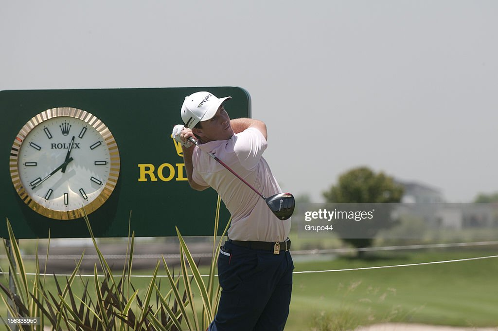 Brad Tilley of USA plays a shot during the opening day of the 107 Visa Golf Open presented by Peugeot as part of the PGA Latin America at Nordelta Golf Club on December 13, 2012 in Buenos Aires, Argentina.