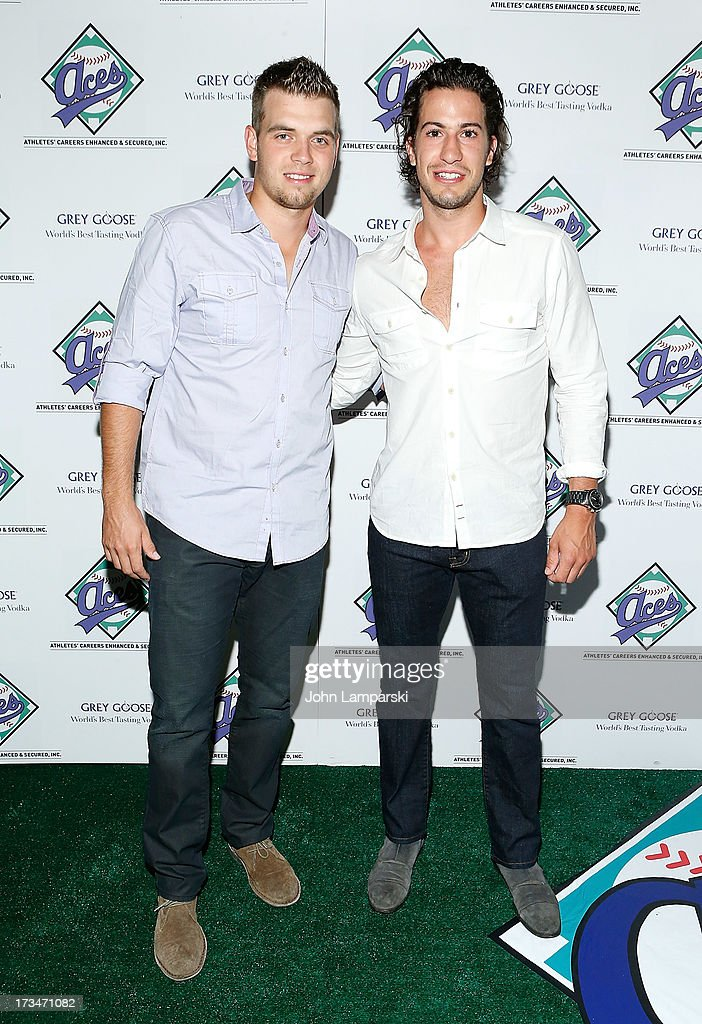 Brad Valliquett and NY Rangers Michael Del Zotto attend ACES Annual All Star Party at Marquee on July 14, 2013 in New York City.