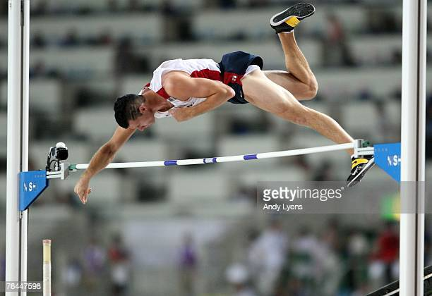 Brad Walker of the United States of America competes during the Men's Pole Vault Final on day eight of the 11th IAAF World Athletics Championships on...