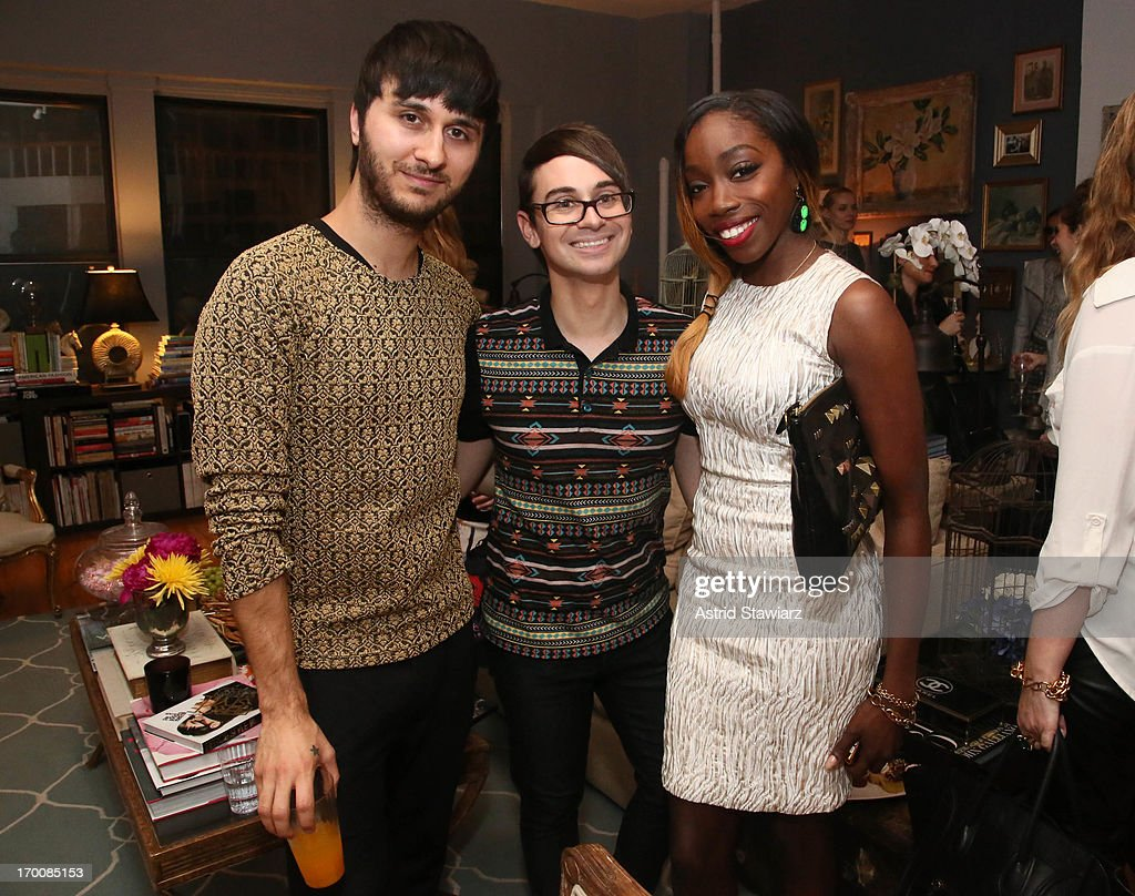 Brad Walsh, Fashion designer Christian Siriano and singer <a gi-track='captionPersonalityLinkClicked' href=/galleries/search?phrase=Estelle+-+Singer&family=editorial&specificpeople=206205 ng-click='$event.stopPropagation()'>Estelle</a> attend the Christian Siriano Resort 2014 Preview And Celebration at Private Residence on June 6, 2013 in New York City.