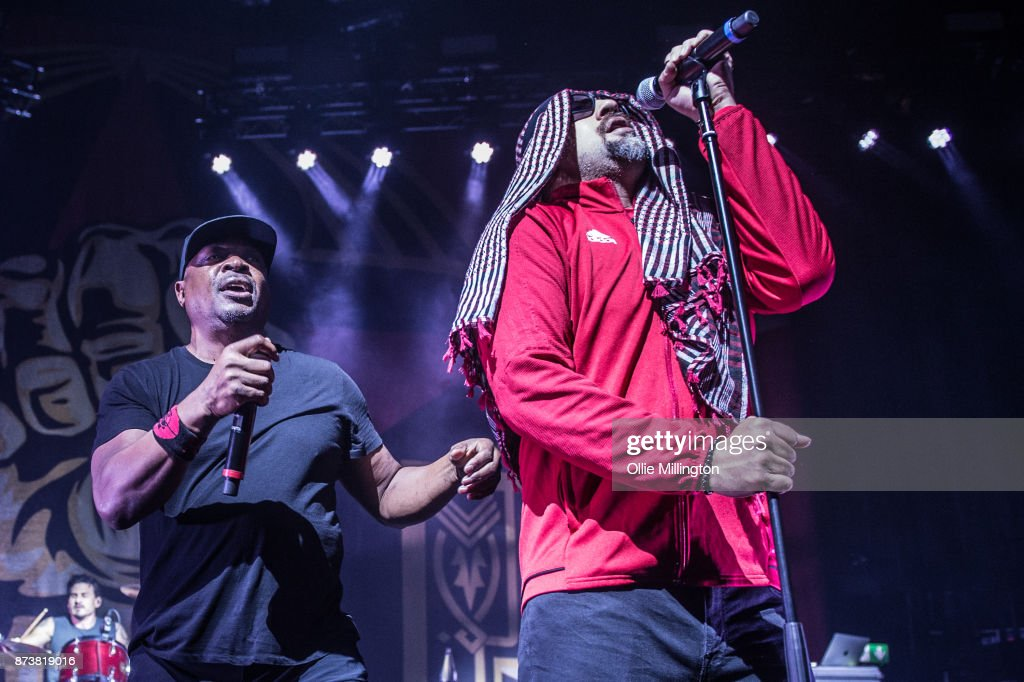 Brad Wilk of Rage Against The Machine, Chuck D of Public Enemy and B-Real of Cypress Hill perform as part of Prophets of Rage live on stage at the O2 Forum Kentish Town on November 13, 2017 in London, England. (Photo by Ollie Millington/WireImage)performs as part of Prophets of Rage live on stage at the O2 Forum Kentish Town on November 13, 2017 in London, England.
