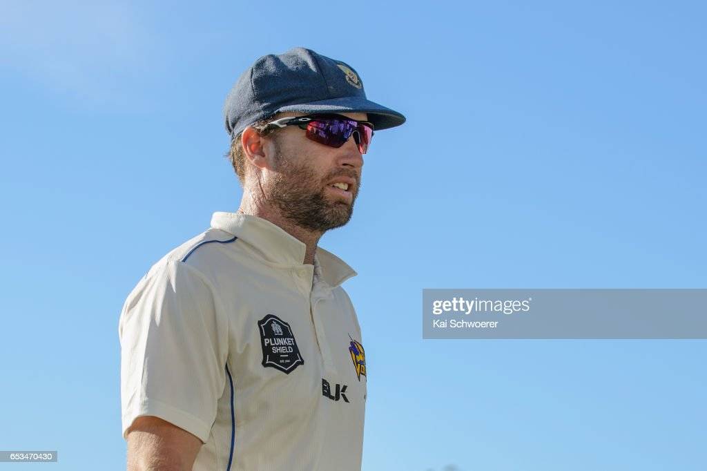Brad Wilson of Otago looks on during the Plunket Shield match between Canterbury and Otago on March 15, 2017 in Christchurch, New Zealand.